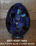 "MBA #5601-0066  ""Multi Dark Blue Stained Glass Mosaic Egg"""