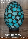 "MBA #5601-172  ""Sky Blue Stained Glass Mosaic Egg"""