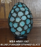 "MBA #5601-182  ""Blue/Lavender Stained Glass Mosaic Egg"""