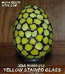 "MBA #5601-212  ""Yellow Stained Glass Mosaic Egg"""