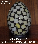 "MBA #5601-217  ""Pale Yellow Stained Glass Mosaic Egg"""