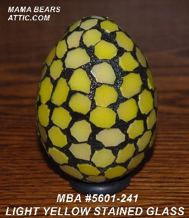 "MBA #5601-241  ""Light Yellow Stained Glass Egg"""