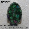 "MBA #5602-0038  ""Iridescent Drak Green Stained Glass Mosaic Egg"""