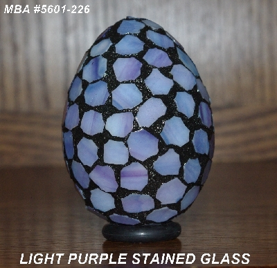 "MBA #5601-226  ""Light Purple Stained Glass Mosaic Egg"""
