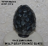"MBA #5602-0040  ""Multi Grey Stained Glass Mosaic Egg"""
