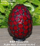 "MBA #5602-244  ""Ruby Red Stained Glass Mosaic Egg"""