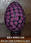 "MBA #5601-246  ""Mauve Pink Stained Glass Mosaic Egg"""