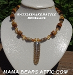 "MBA #5604-433 ""One Of A Kind Rattlesnake Rattle Necklace"""