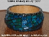 "MBA #5603-119  ""Blue Green Stained Glass Bangle Bracelet"""