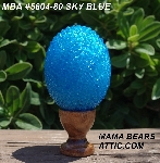 "MBA #5604-80  ""Sky Blue Glass Bead Egg With Stand"""