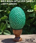 "MBA #5604-86  ""Light Green Glass Bead Egg With Stand"""