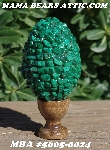 "MBA #5605-0024  ""Malachite Gemstone Rock Chip Beads Egg With Stand"""