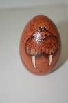 "**1994 ""Molar"" Hand Painted Wooden Egg"