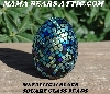 "MBA #5605-278  ""Metallic & Black Glass Bead Egg With Stand"""
