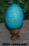 "MBA #5605-329  ""Sky Blue Glass Bead Egg With Stand"""