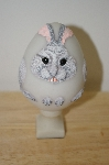 +MBA #10-046  1986 Bristar Hand carved Large Bunny Egg