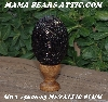 "+MBA #5606-83 ""Metallic Plum Glass Bead Egg With Stand"""
