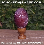 "+MBA #5606-110  ""Transparent Purple Glass Bugle Bead Egg With Stand"""