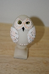 +MBA #10-058  1987 Bristar Hand Carved Resin Owl Egg