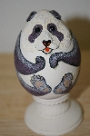 Eggcentrics Hand  Sculpted Panda Egg