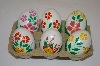 +MBA #10-163  1/2 Dozen Real Hand Painted Chicken Eggs