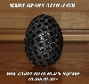 "MBA #5607-0030  ""Square Black Glass Bead Mosaic Egg With Stand"""