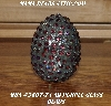 "MBA #5607-74  ""AB Purple Glass Bead Mosaic Egg With Stand"""