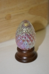 1985 HandCrafted Art Glass Opalescent  Egg