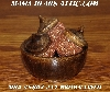 "MBA #5607-211  ""Set Of 3 Brown Glass Beaded Acorns & Bowl"""