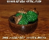 "MBA #5607-261  ""Set Of 3 Luster Green Glass Beaded Acorns With Bowl"""