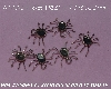"+MBA #5608-135   ""1990's Set Of (6) Sterling Spider Pendants"""