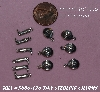 "+MBA #5608-186  ""1990's  24 Piece Sterling Tiny Western Charms With O Rings"""