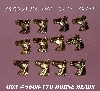 "MBA #5608-170  ""Set Of (12) Gold Tone Metal Horse Head Embellishments"""
