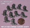 "MBA #5608-155  ""Set Of (10) Pewter Cow Boy Boot Charms"""