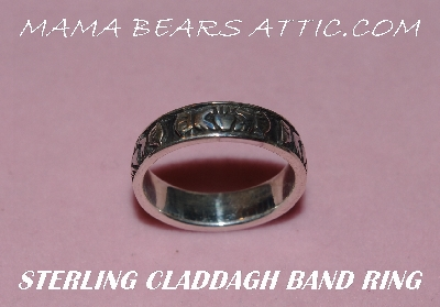 "MBA #5608-179   ""Sterling Silver Claddagh Band Ring Size 7"""