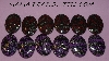 "MBA #5608-457  ""Set Of (12) Fancy Purple,Red, Black & Glitter Acrylic Cabochon's"""