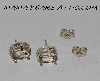 "+MBA #5608-359   ""1990's Griegers Set Of (2) Pairs Sterling 8x6 Basket Post Back Earring Settings"""