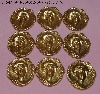 "MBA #5608-319  ""Set Of 8 Victorian Cameo Stamped Brass Embellishments"""