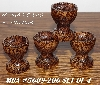 "+MBA #5608-206  ""Set Of 4 Fancy Wood Egg Cup Stands"""