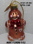 "MBA #5609-143  ""2004 Advent Gingerbread Man Ornament"""