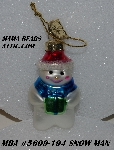 "MBA #5609-194  ""2004 Thomas Pacconi Advent Snow Man Replacement Ornament"""