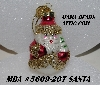 "MBA #5609-207  ""2004 Thomas Pacconi Advent Santa Replacement Ornament"""
