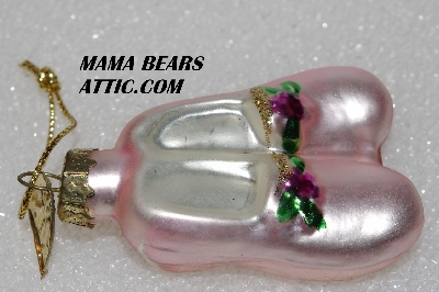 "+MBA #5609-233  ""2004 Thomas Pacconi Advent Pink Shoes Replacement Ornament"""