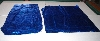 "+MBA #5610-001  ""1990's Tandy Leather (2) Piece Blue Metallic Pigskin Suede"""