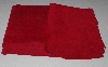 "+MBA #5610-008  ""1990's Tandy Leather (2) Pieces  Red Pigskin Suede Hide """