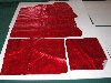 "+MBA #5610-0010  ""1990's Tandy Leather 3 Pieces Red Matellic Pigskin Suede"""