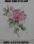 "+MBA #5610-0056  ""1994 Manor Art ""Pink Roses By Reina"" #409 Lithograph"""