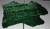 "+MBA #5610-163  ""1990's Tandy Leather Green Metallic Pigskin Suede Hide"""