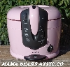 """SOLD""  MBA Pink25- #0004- ""2005 Pink Cooks Cool Touch Deep Fryer"""