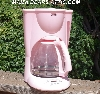"""SOLD""  MBA #Pink14-033   ""2005 Pink Cooks 12 Cup Programmable Coffee Maker"""
